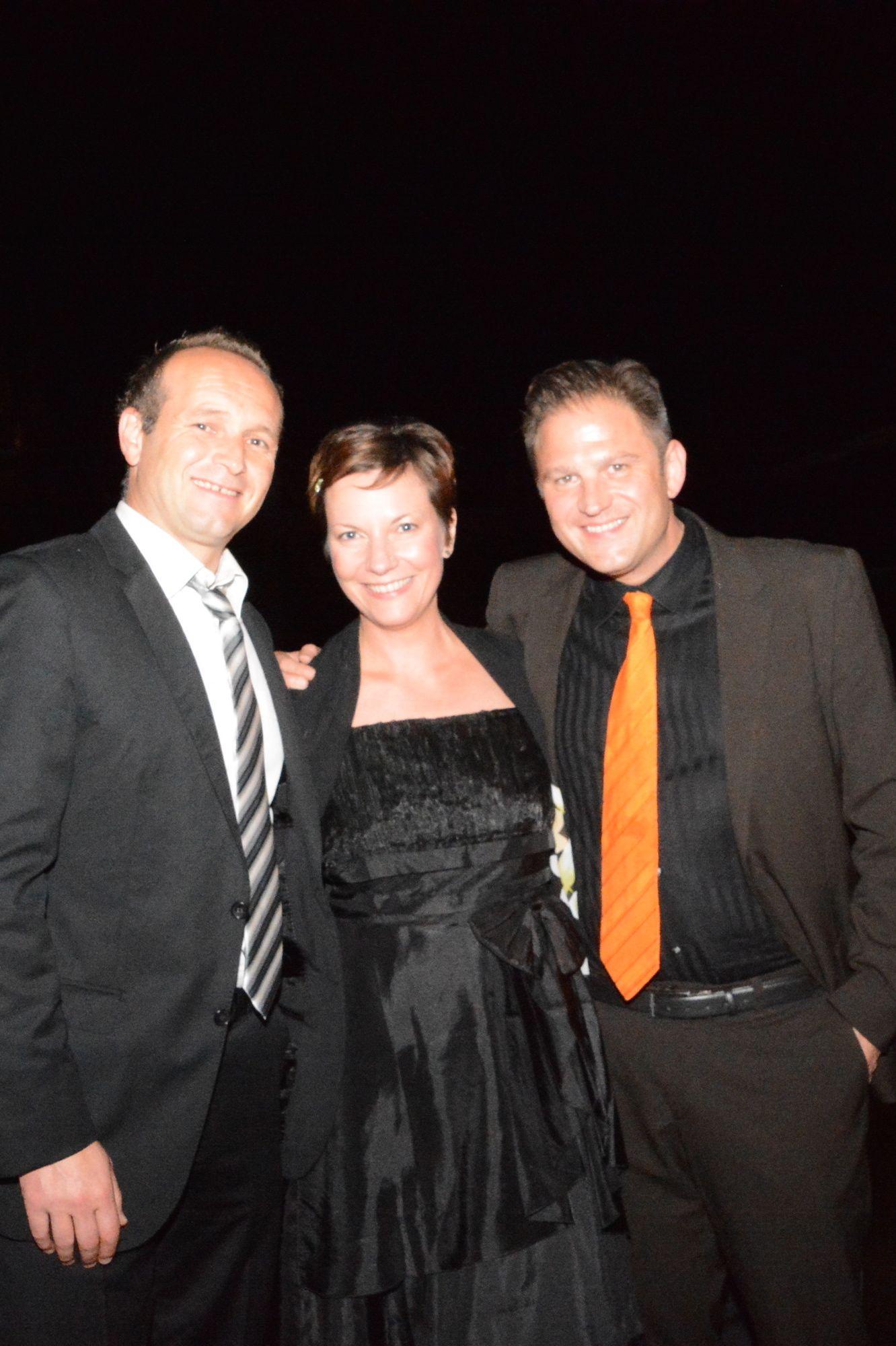 Herren und Damen des ruhenden Balls: Dirk Lottner, Alexandra Klaus und Autor Ralf Johnen