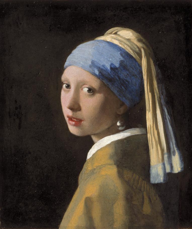 Johannes Vermeer, 1632-1675 Meisje met de parel, c. 1665 Doek, 44,5 x 39 cm Den Haag, Mauritshuis