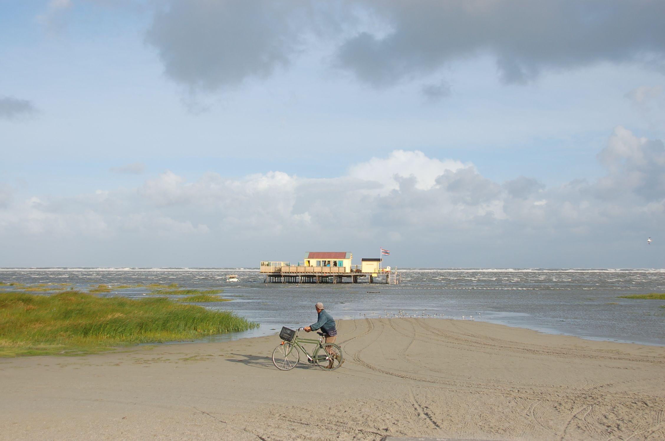 Einsame Strände an der niederländischen Nordseeküste