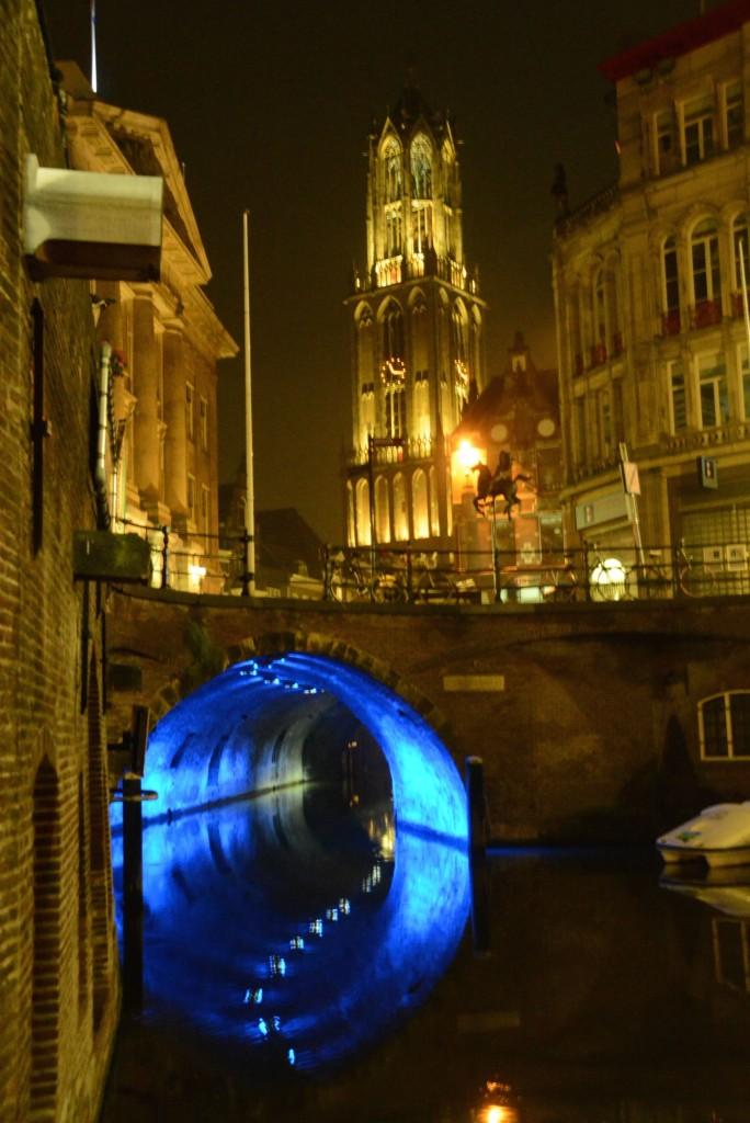 Blaue Stunde in der City: Das Trajectum Lumen