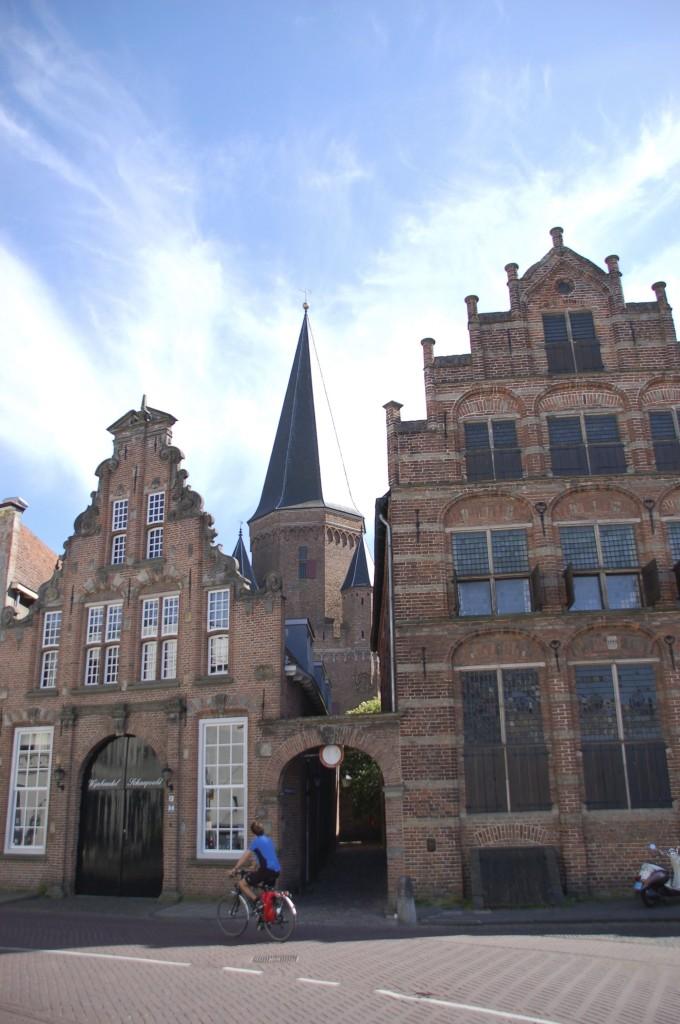 Die Giebel aus der Hansezeit sind sorgfältig restauriert