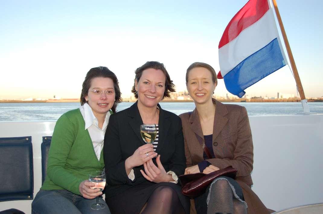 Ausflüge standen auch auf dem Programm - wie hier in Rotterdam auf der Jacht des Bürgermeisters