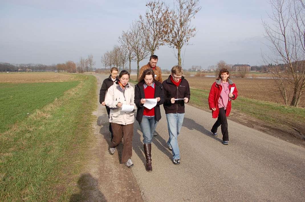 Beim Spaziergang auch noch unregelmäßige Verben büffeln... Aber es klappte!