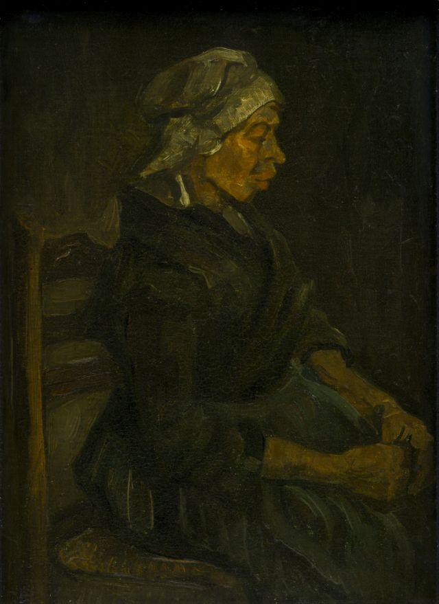 Bäuerin, sitzend mit weißer Mütze 1885_Quelle Het Noordbrabants Museum