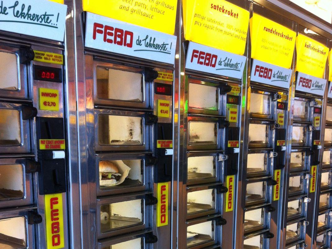 Ganz, ganz selten darf es auch mals Junkfood aus dem Automaten sein