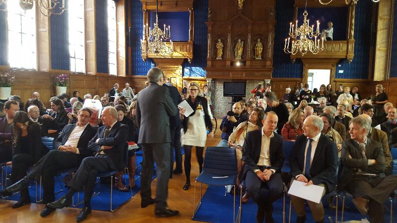 Großer Andrang bei der Pressekonferenz zur Eröffnung der Ausstellung