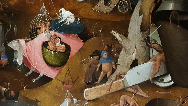 """Ausschnitt aus """"Das jüngste Gericht"""" (um 1495-1505), Hieronymus Bosch, Brügge, Stadt Brügge Groeningemusem. Foto: Frida van Dongen"""