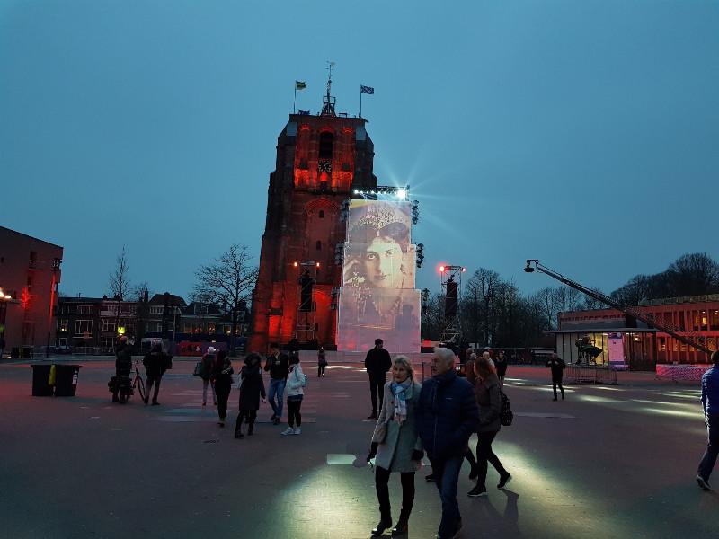 Der schiefe Turm Oldehove in Leeuwarden. Foto: Frida van Dongen