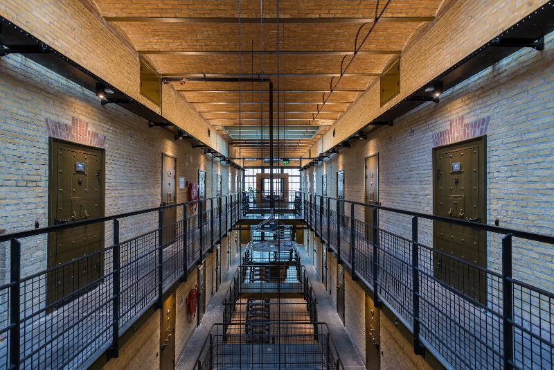 Einchecken im Knast: das neue Hostel Alibi in Leeuwarden. Bild: Fryslan Marketing